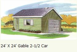 garage-2-and-half-car-Gable