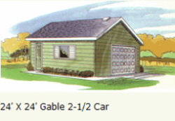 garage-2-and-half-car-Gable