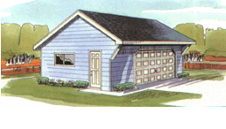 garage reverse offset gable with overhang