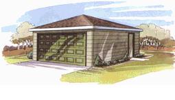garage 2 car hip roof
