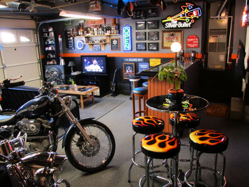 Man Cave Garage Accessories : Chicago garage building the perfect man cave